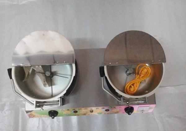 全不锈钢双锅爆米花机 自动爆米花机