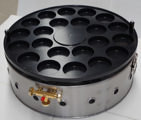 22孔燃气汉堡炉 鸡蛋肉蛋堡技术