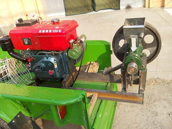 12马力柴油机带动玉米膨化机