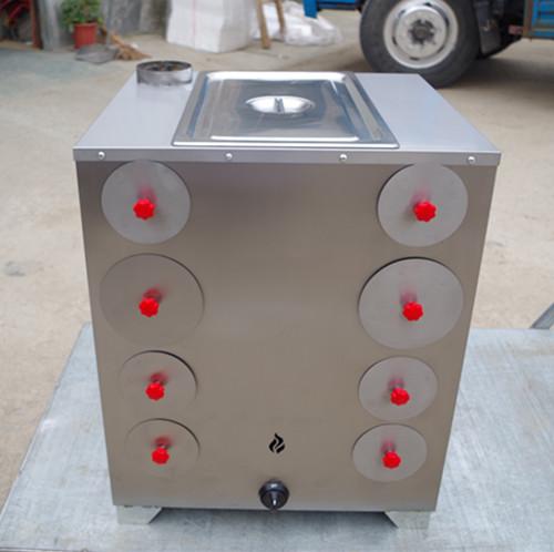 全不锈钢8孔烤地瓜炉(带煮玉米锅)
