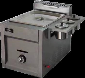 多功能燃气煮炸锅单缸